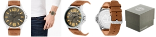 Timberland Men's Brown Leather Strap Watch 45.5mm