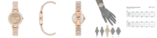 Anne Klein Women's Tan Ceramic and Mixed Metal Bracelet Watch 30mm
