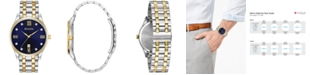 Bulova Men's Diamond Accent Two-Tone Stainless Steel Bracelet Watch 40mm 98D130