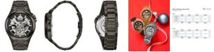 Bulova Men's Automatic Gunmetal Stainless Steel Bracelet Watch 46mm 98A179