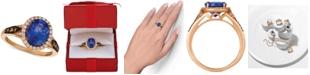 Le Vian Chocolatier® Blueberry Tanzanite (2-1/2 ct. t.w.) & Diamond (3/8 ct. t.w.) Ring in 14k Rose Gold