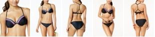 California Waves Juniors' Crochet-Trim Underwire Push-Up Bikini Top, Created for Macy's