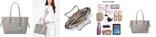 Michael Kors Voyager Medium Crossgrain Leather Tote