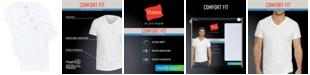 Hanes Men's 4-Pk. Platinum Comfort Fit V-Neck T-Shirts