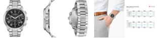 Bulova Men's Chronograph Wilton Stainless Steel Bracelet Watch 46.5mm