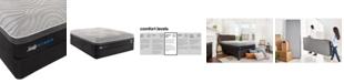 "Sealy Kelburn II 13"" Hybrid Cushion Firm Mattress Set- King"
