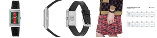 Gucci Women's Swiss G-Frame Black Ayers Leather Strap Watch 21x40mm