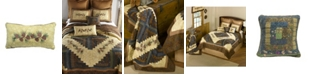 American Heritage Textiles Cabin Raising Pine Cone Cotton Quilt Collection, Accessories
