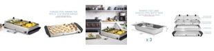 Elite by Maxi-Matic Elite Platinum 3 x 2.5 Quart Stainless Steel Electric Buffet Server