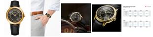 Raymond Weil Men's Swiss Automatic Maestro Beatles Black Vegan Strap Watch 39.5mm
