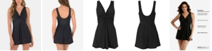Miraclesuit Pin-Point Marais Allover Slimming Swimdress