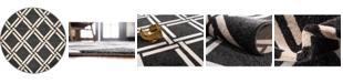 """Bridgeport Home Arbor Arb4 Black 3' 3"""" x 3' 3"""" Round Area Rug"""