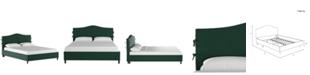 Skyline Low Profile Brooks Slipcover Platform Bed - Twin