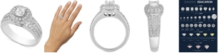 Macy's Diamond Multi-Halo Engagement Ring (1-3/4 ct. t.w.) in 14k White Gold