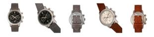 Elevon Men's Langley Chronograph Genuine Leather Strap Watch 42mm
