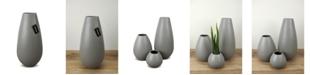 "Le Present Drop Wide Ceramic Vase 13.7"""
