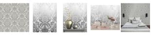 "Advantage 20.5"" x 369"" Bernadette Damask Wallpaper"