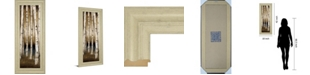 "Classy Art Birch Landing I by St Germain Framed Print Wall Art - 18"" x 42"""
