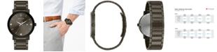 Bulova Men's Millennia Diamond-Accent Gray Stainless Steel Bracelet Watch 42mm