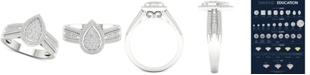 Macy's Diamond Teardrop Cluster Statement Ring (1/2 ct. t.w.) in Sterling Silver