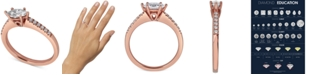 Macy's Diamond Oval Engagement Ring (5/8 ct. t.w.) in 14k Rose Gold