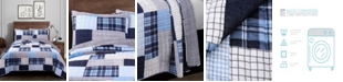 Lush Decor Greenville Reversible Plaid 2-Piece Twin Quilt Set