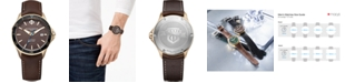 Baume & Mercier Men's Swiss Automatic Clifton Club Brown Nubuck Calfskin Leather Strap Watch 42mm