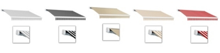 """Awntech 8' Key West Full Cassette Manual Retractable Awning, 78"""" Projection"""