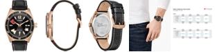 Citizen Eco-Drive Men's Classic Black Leather Strap Watch 43mm