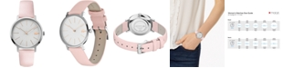Lacoste Women's Moon Pink Leather Strap Watch 35mm