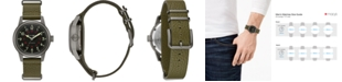 Bulova Men's Automatic Military Green Leather Strap Watch 38mm