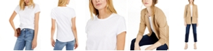 INC International Concepts INC Slim Fit Cotton Crewneck Top, Created for Macy's