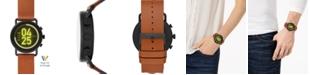 Skagen Unisex Falster 3 Brown Leather Strap Touchscreen Smart Watch 43mm