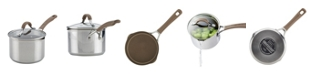 Circulon Innovatum Stainless Steel Nonstick 2-Qt. Covered Straining Saucepan with Pour Spouts