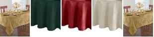 "Elrene Elrene Poinsettia Jacquard Holiday Tablecloth - 90"""