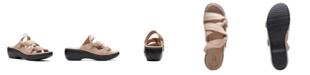 Clarks Collection Women's Delana Jazz Flat Sandals