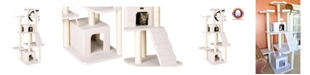 Armarkat Classic Cat Tree, Multi Levels with Ramp, 3 Perches, Rope Swing and 2 Condos