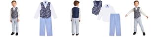 Nautica Toddler Boys 4-Pc. Tropical-Print Vest Set