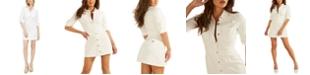 GUESS Sara Long-Sleeve Denim Dress