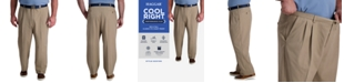 Haggar Big & Tall Cool Right Performance Flex Classic Fit Pleated Pant