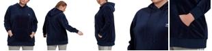 adidas Plus Size Velour Logo Hoodie