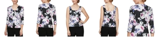 Alex Evenings 2-Pc. Floral-Print Jacket & Top Set