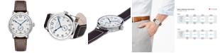 Hamilton Men's Swiss Automatic Khaki Navy Pioneer Brown Calf Leather Strap Watch 40mm H78465553