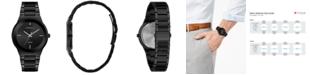 Caravelle  Men's Diamond-Accent Black Stainless Steel Bracelet Watch 40mm
