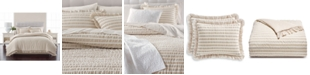 Martha Stewart Collection  CLOSEOUT! Seersucker Stripe Oat 8-Pc. California King Comforter Set, Created for Macy's