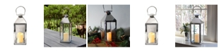 Macy's Lumabase Chrome Traditional Metal Lantern with LED Candle