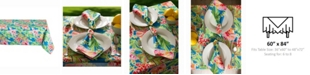 "Design Imports Summer Floral Outdoor Table cloth 60"" X 84"""