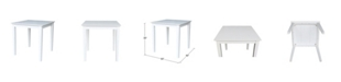 International Concepts Solid Wood Top Table - Dining Height