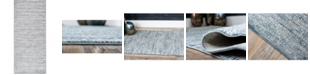 "Bridgeport Home Caan Can3 Blue 2' 7"" x 6' Runner Area Rug"