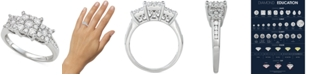 Macy's Diamond Princess Triple Halo Engagement Ring (3/4 ct. t.w.) in 14k White, Yellow or Rose Gold